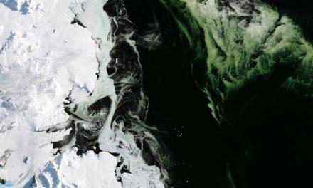 Descubren Hielo verde en la Antártida