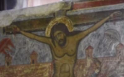 """Descubren """"OVNIs"""" en un fresco de la Crucifixión del Siglo XI"""