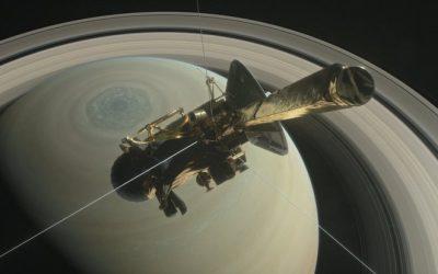 NASA publica la imagen del punto donde impactó la sonda Cassini
